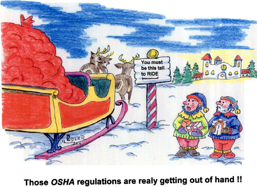 It's Elf 'N' Safety Gone Mad! Santa's EHS Procedures