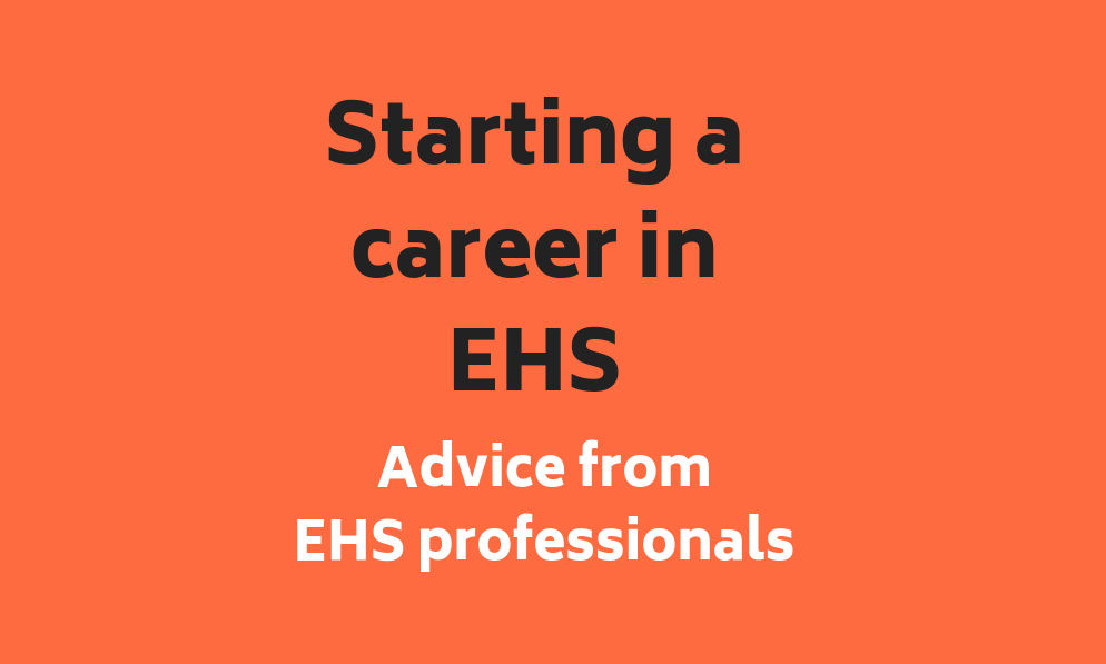 Infographic: Top Tips for Starting your Career in EHS
